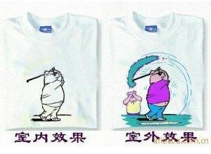 Ejemplo de camiseta elaborada con tintas fotocrómicas